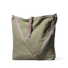 Простая парусиновая мужская сумка на одно плечо, большая сумка-тоут