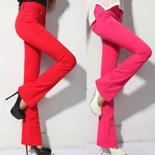 Women High Waist Pants Woman Skinny Slim Fashion Casual Pants Boyfriend Flares pants 10 colors