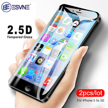 ESVNE (2PCS/LOT) 2.5D Protective Glass For iPhone 5s glass HD on the 0.26mm se 5 Screen Protector Tempered
