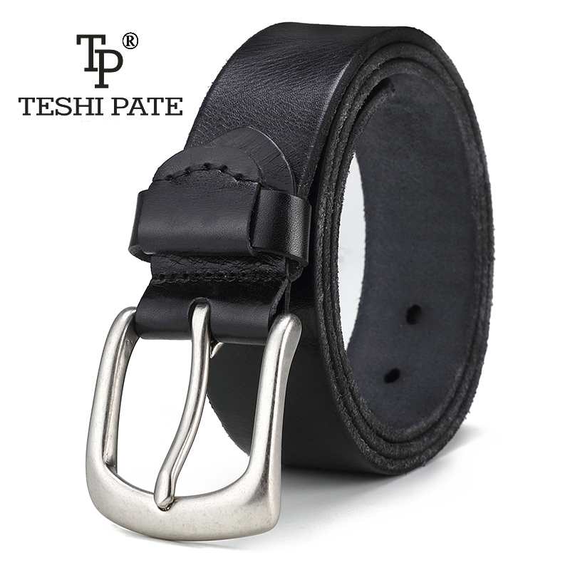 TESHI PATE TP The 2018 year New Hot Mens Casual vintage style Wild Retro Italy Top Layer Cowhide leather Belt