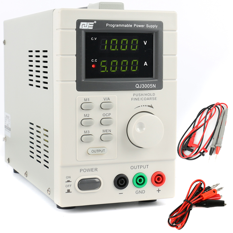 QJ3005N Adjustable Digital Linear Programmable DC Power Supply 30V 5A 0.01V 0.001A USB Remote Control Via PC 220V EU/US/AU Plug cps 6011 60v 11a digital adjustable dc power supply laboratory power supply cps6011