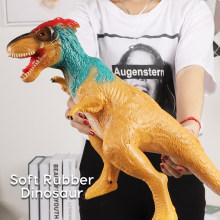 63CM Dinosaur Model Big Size Plastic Puppets Tyrannosaurus Rex Velociraptor Jurassic world Park Dinosaur Toys for Children(China)