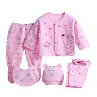 5 Pieces Set Newborn Baby Clothing Set Brand Baby Boy Girl Clothes 100 Cotton Cartoon Underwear