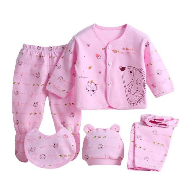 b53a35dca 5 Pieces set Newborn Baby Clothing Set Brand Baby Boy Girl Clothes ...