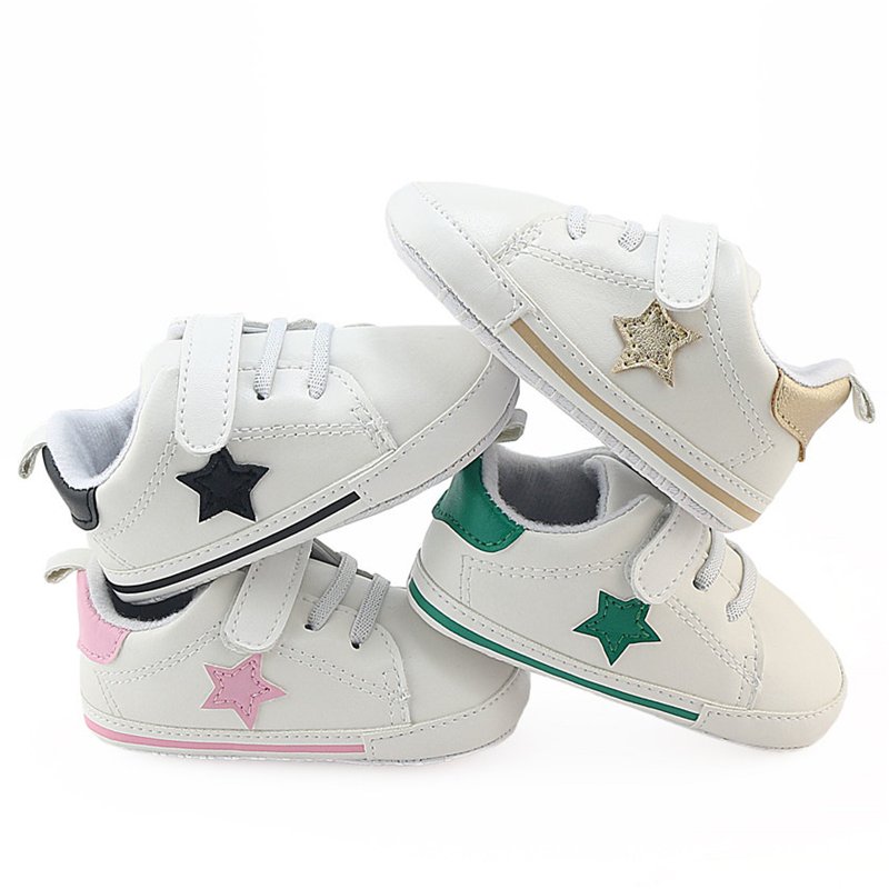 Fashion Baby First Walker Shoes Soft Sole Infant Sneaker PU Leather Girls Boys Brand Bab ...
