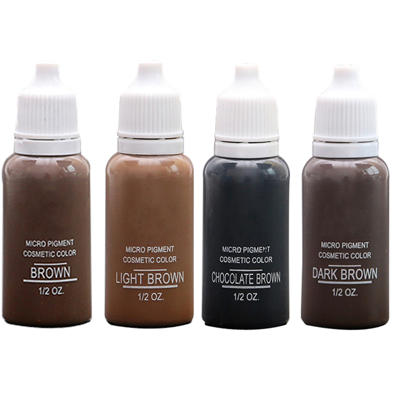 4Colors Microblading Pigments For Eyebrows Permanent Makeup Basic Eyebrow Dye For Tattooing плеер hifiman hm 901s balanced card