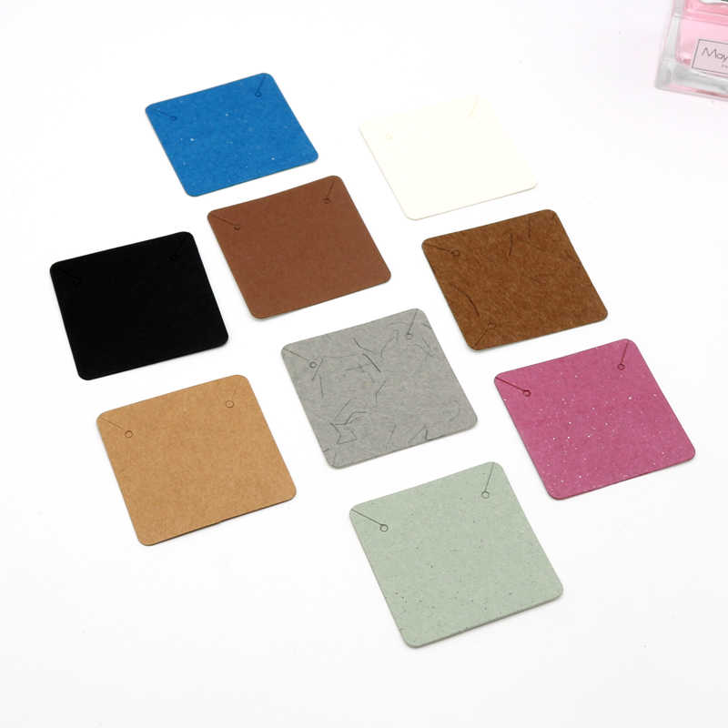 10pcs Lot Paper Jewelry Display Card Necklace Cards 5x5cm Favor Earrings Card Jewellery Necklaces Packaging Card Diy Accessories