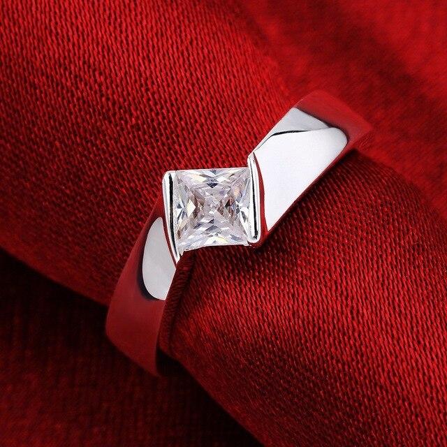 Anillos de moda Beiliwol para mujeres precio de fábrica venta al por mayor joyería de Color plata hombres cuadrado Zirconia cristal OFERTA ESPECIAL