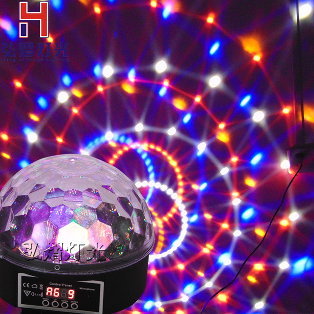 Music Crystal Magic Rgb Led Stage Lights For Party Ball