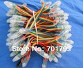 IP68 DC12V de entrada 12mm por-agujero LED RGB dump nodo; 100 unids una cadena