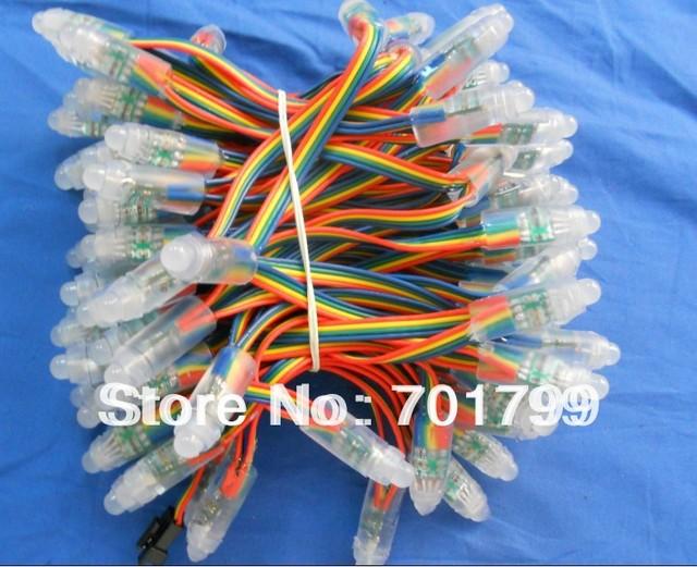IP68 DC12V input 12mm through-hole LED RGB dump node;100pcs a string