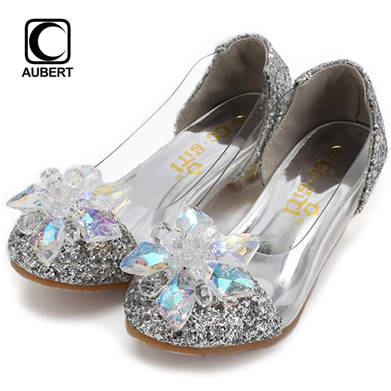 2017 New Fashion Summer Kids Shoes Baby Girls Rhinestone Princess Flats Sandals Genuine Leather Low Heels Dance Gladiator Shoes summer style children sandals girls princess flower shoes kids flat sandals tide sneakers