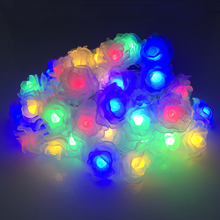 Solar Christmas Lights 6M 30LEDs Colorful Rose Holiday Party Garden Decorations Waterproof Outdoor Solar Powered Fairy Lamps