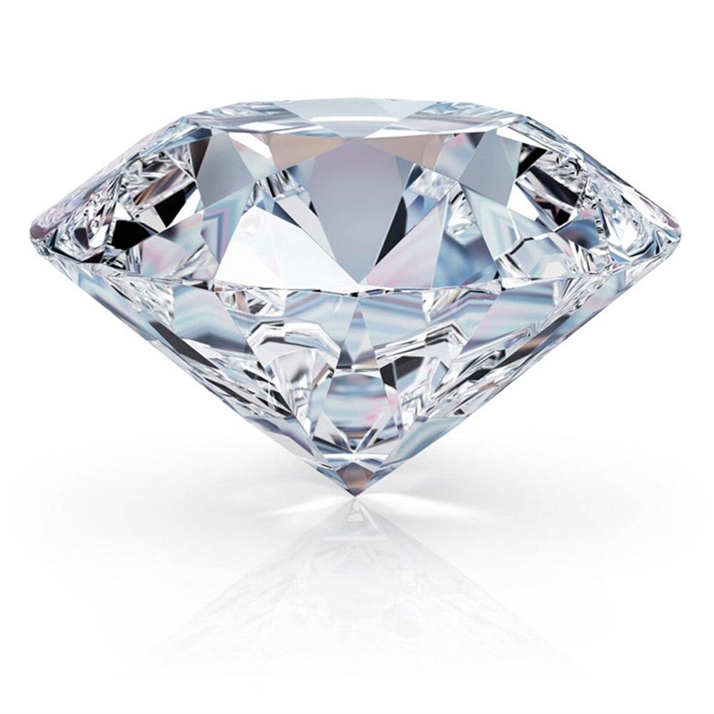 RINYIN lâche pierre gemme 6.50mm 1.00ct D couleur VVS1 clarté excellente coupe 3EX rond brillant Moissanite avec rapport de certificat