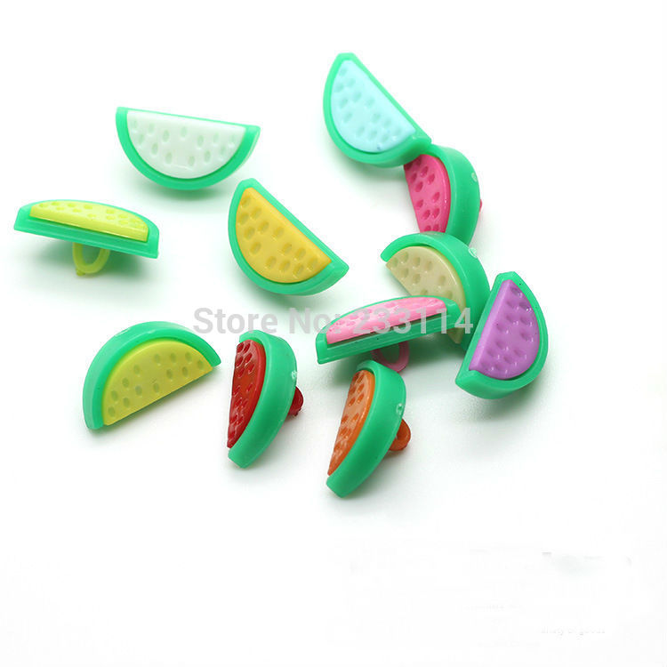 A54 Wholesale watermelon candy color buttons buttoned sweater buckle button cartoon children diy craft materials decorative