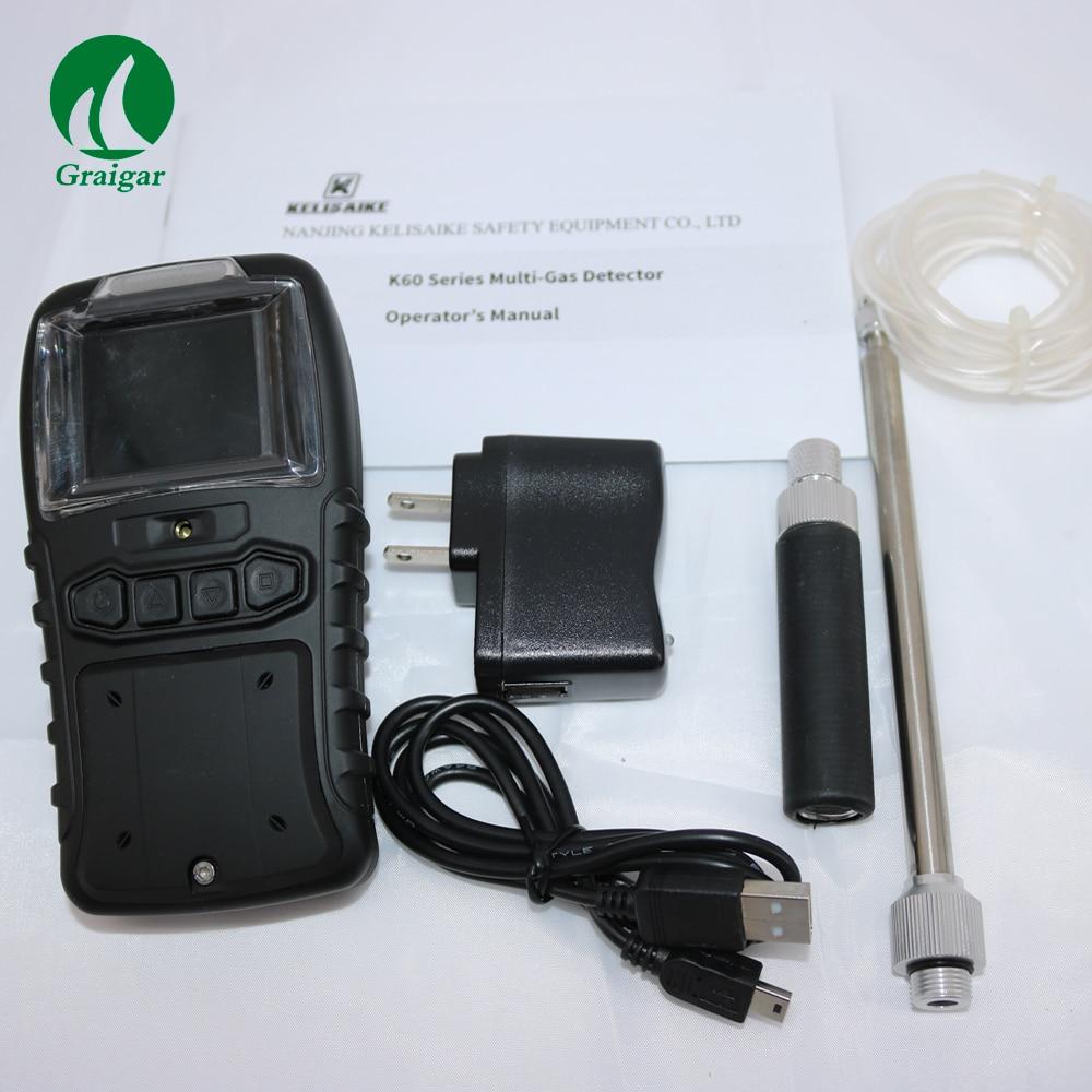 Портативный многофункциональный детектор газа K60 IV используется для обнаружения утечки газа звук и Вспышка сигнализации