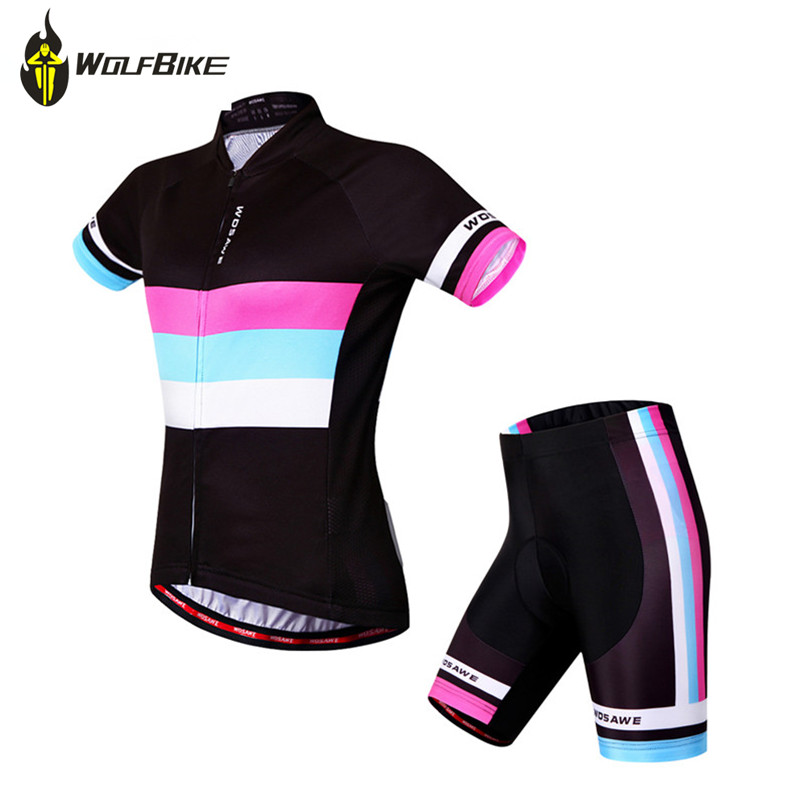 Wolfbike Mens Breathable Cycling Jersey or 3D Padded Shorts Outfit