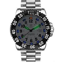 Швейцария H3 светящиеся стрелки карнавальный костюм Элитный бренд Для мужчин's Часы кварцевые военные часы Для мужчин 200 м Diver Водонепроницае
