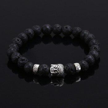 Bracelet Bouddhiste en Pierre de Lave