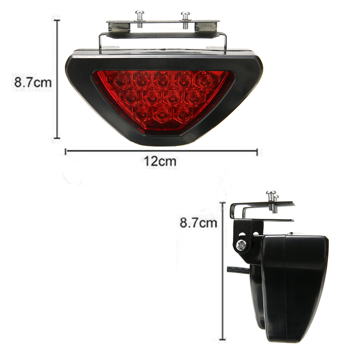 Image 5 - For Car Truck Brake Lights Universal F1 Style 12 LED Red Rear Tail Third Brake Stop Light Safety Signal Lamp-in Signal Lamp from Automobiles & Motorcycles