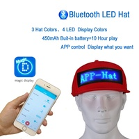 LED Display Screen Hat Lighted Glow Club Party Sports Athletic Travel Flashlight Baseball Golf Hip hop Flash Cap Performance