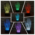 Amazing Magical Optical Illusion 3D LED Night Light Hands Bedroom Sleeping Touch Table Light Novelty Lighting Atmosphere Lamp