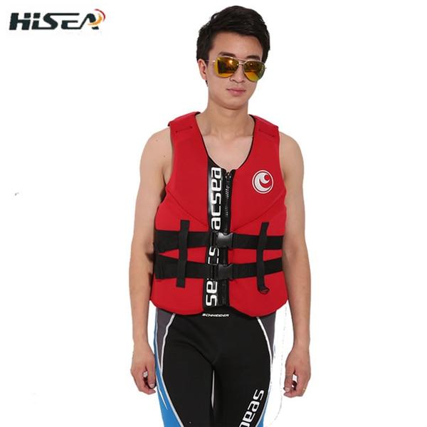Hisea adult life vest buoyancy thickening drift vest marine snorkeling swimming suit Surfing scuba children lifejacket 4colors10