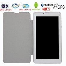 Новый Дизайн 7 Дюймов Кожаный holeter 3 Г Телефону Android Пк Таблетки WiFi BT Bluetooth tablet pc Двойная Камера 2 СИМ-Карты Пк Tab 8