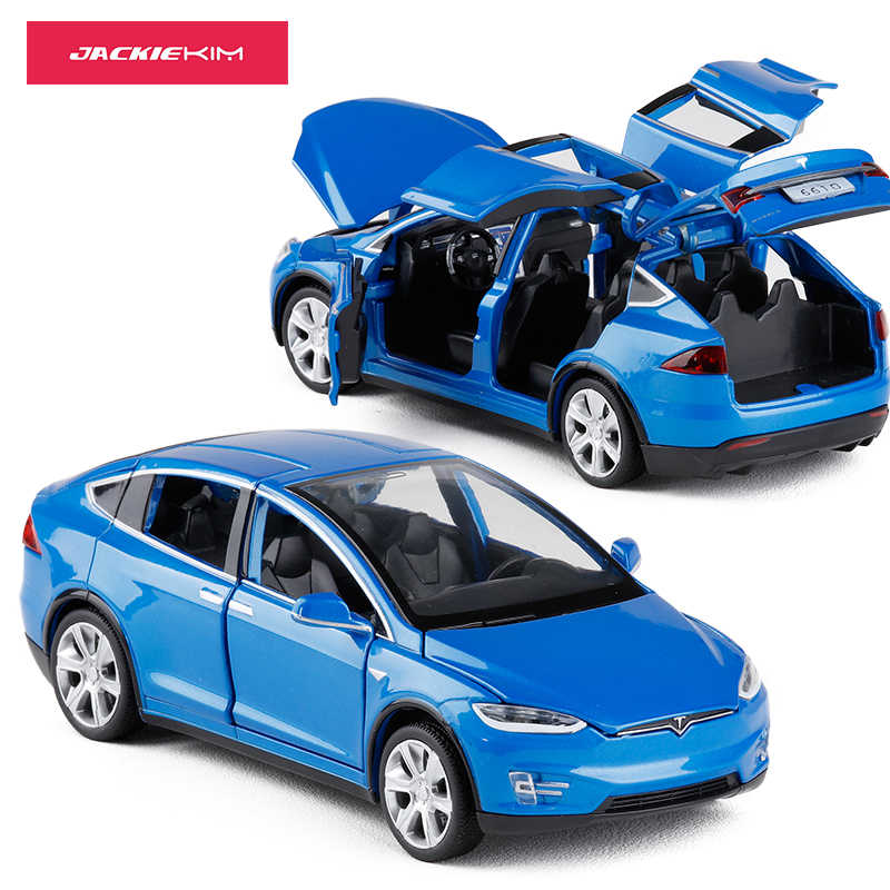 1:32 Tesla MODEL X Alloy Car Model Diecasts Toy Vehicles Toy Cars Kid Toys For Children Birthday Gifts Boy Toy Free Shipping