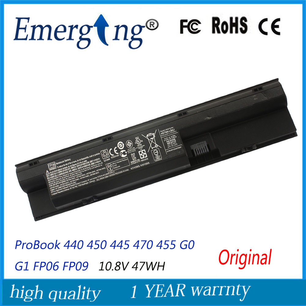 10.8V 47WH New Original Laptop Battery for HP ProBook 440 450 445 470 455 G0 G1 FP06 FP09 H6L26AA H6L27AA потолочная люстра жар птица волна l04p1 04 z