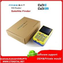 Freesat V8 Finder 2pcs DVB-S2 vs satlink 6906 Satellite Finder Support 1080P HD Freesat Finder V8 With 3.5 inch LCD Display