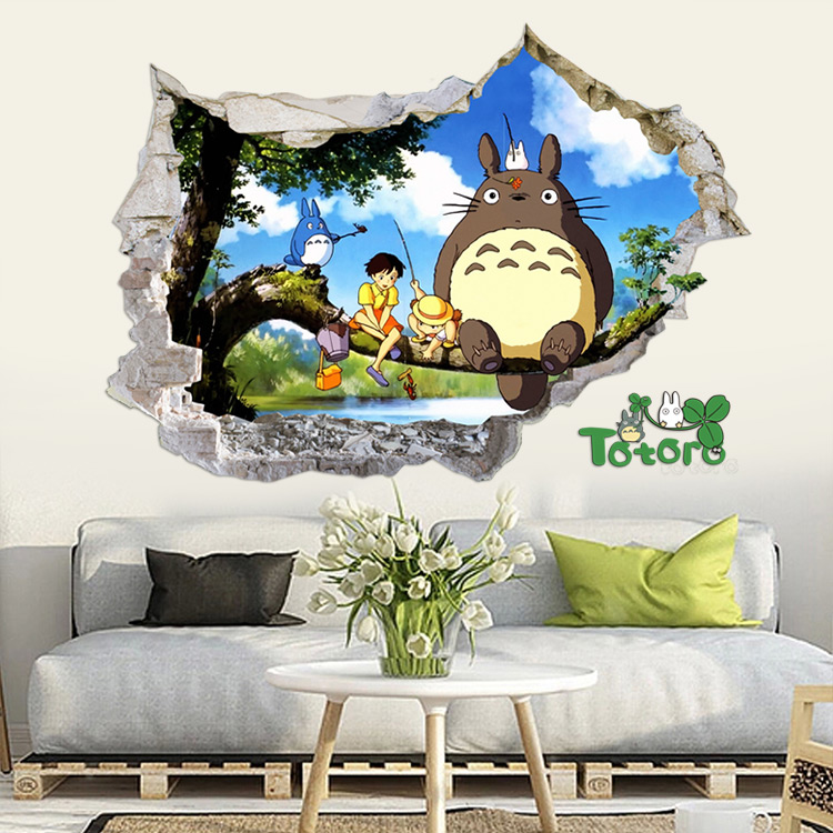 EWAYS Cartoon Games Theme Wall Sticker TOTORO Wall Sticker 9 Style And 2 Size Room Deorated Tools