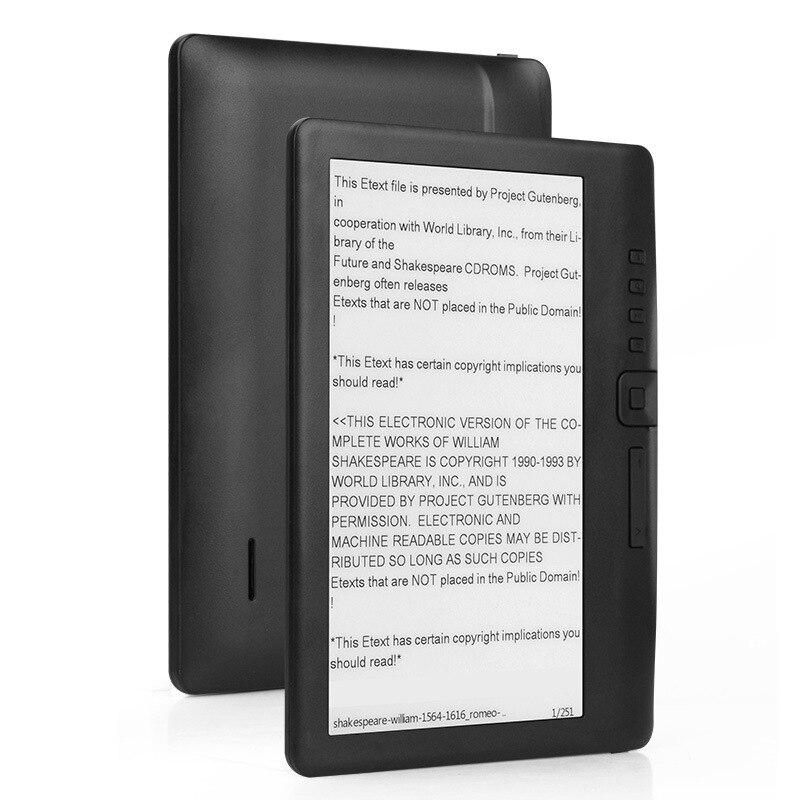 Lecteur Ebook ELECTSHONG 8 GB intelligent avec écran HD 7 pouces e-book numérique + vidéo + lecteur de musique MP3 écran couleur