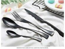 Купить с кэшбэком Hot Sale 4 Pcs/set kaya Tungsten color Dinnerware knife 304 Stainless Steel Western Cutlery Kitchen Food Tableware Dinner set