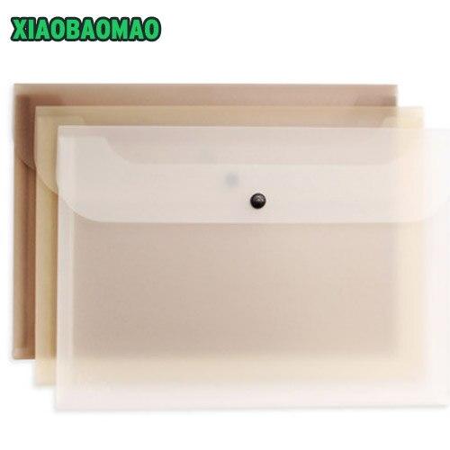 3 Pcs / Lot Simple Transparent Scrub A4 File Holder Kawaii PVC Bags File Bag