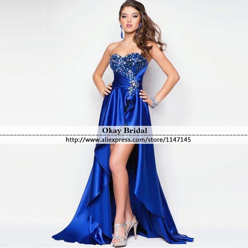 Online Get Cheap Blue High Low Prom Dresses -Aliexpress.com ...