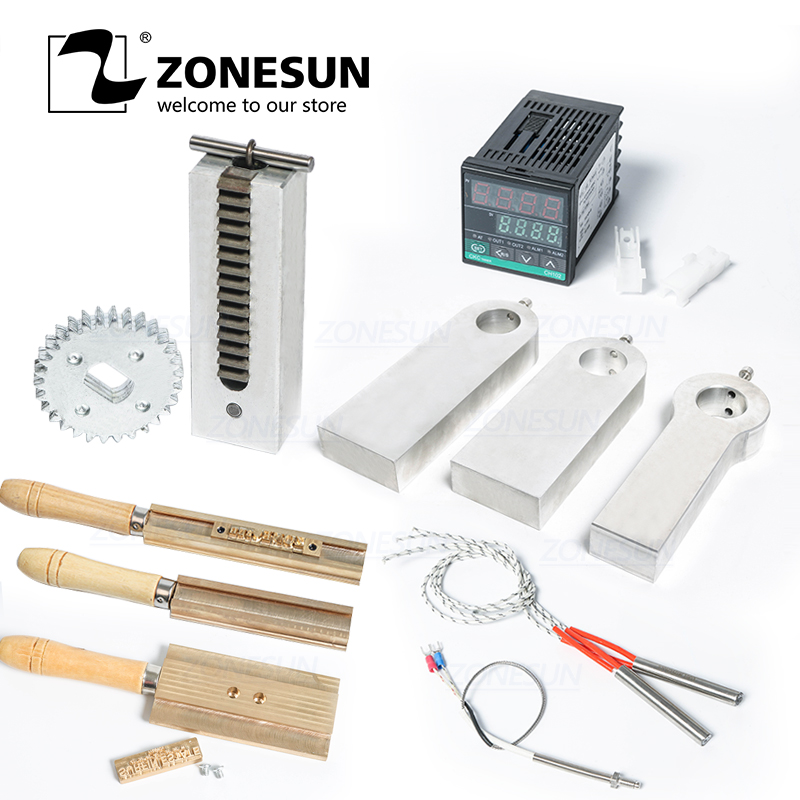 ZONESUN Hot Foil Stamping Machine Accessory Spare Parts Position Holder Foil Roll Holder T-Slot Workbench Heating Element