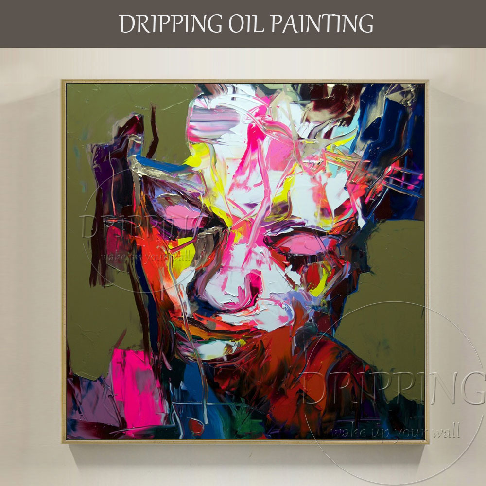 Professional Artist Hand Painted High Quality Abstract: Superb Artist Hand Painted High Quality Abstract Portrait