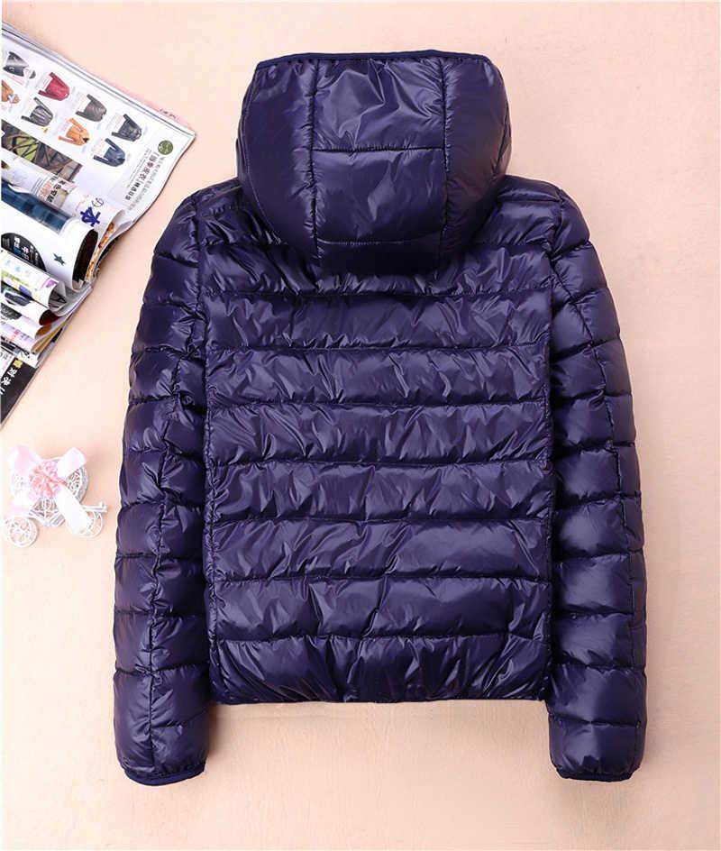 Bella Philosohy abrigos de invierno Ultra ligeros para mujeres con capucha 90% chaqueta de plumón de pato blanco Delgado Parka chaqueta de plumas femenina