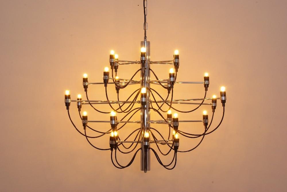 2097 Lustre Gino Sarfatti 18/30/50 Têtes Pendentif Lampe S'allume Éclairage