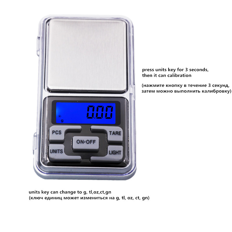 Cena fabryczna Nowość 500g / 0,01 g Mini elektroniczna biżuteria - Przyrządy pomiarowe - Zdjęcie 4