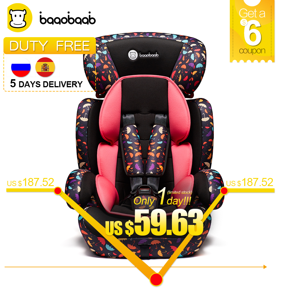 BAAOBAAB Adjustable Baby Car Seat Free Shipping Return & Change Group 1/2/3 9-36kg Child Safety Booster Seat 9 M-12 Y Armchair child car safety seats forward facing baby booster seat carmind for 1 12years old 9 36kg kids group 1 to 3