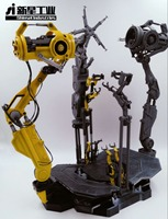 Ironman 1/6 Suit Up Gantry With Remot Light Toy Hero Doll Birthday Gift Toys Action Figure Set