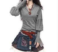 2014 New Solid Color Elastic Turtleneck Paillette Sequined Long Basic Casual Pullover Sweater