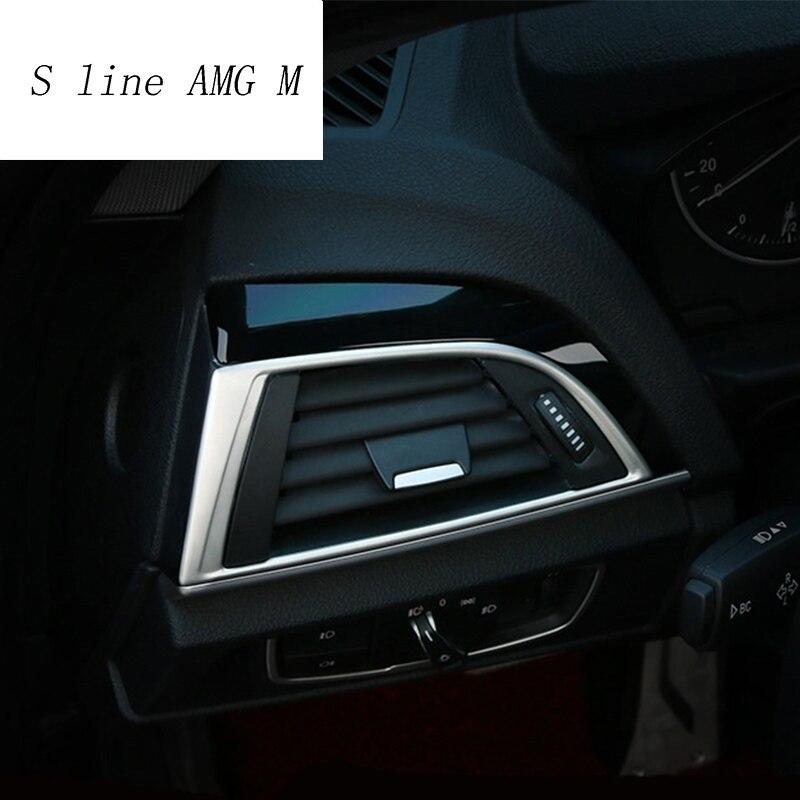 Embellecedor de salida de aire acondicionado para BMW, pegatinas de decoración del marco de salida de aire para BMW Serie 1, 116i, 118i, f20, f21, Interior