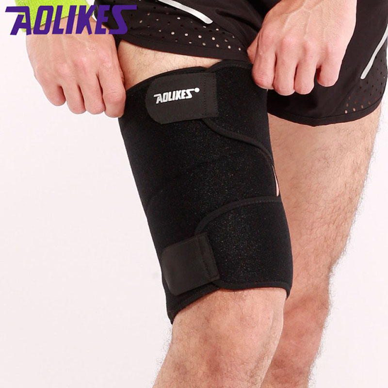 1PCS Sport Thigh Support Guard Muscle Strain Protector Brace Muslo Pads Fitness Leggings Leg Compression Bodybuilding