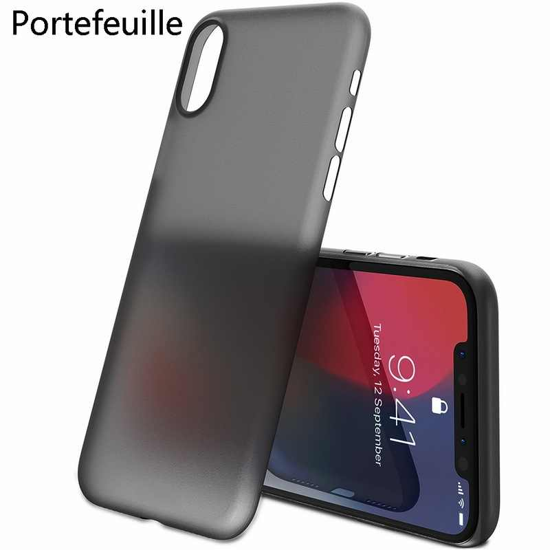 Portefeuille for iPhone X Case PP Ultra Thin Protect Hard Case for iPhone 10 8 Plus 7 6 6S 5 5S se Matte Slim Cover Cases Coque