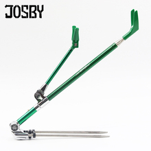 JOSBY 1.7M 2.1M  2.3M fishing rod bracket portable retractable folding 5color stainless steel fishing Rod Holder Telescoping