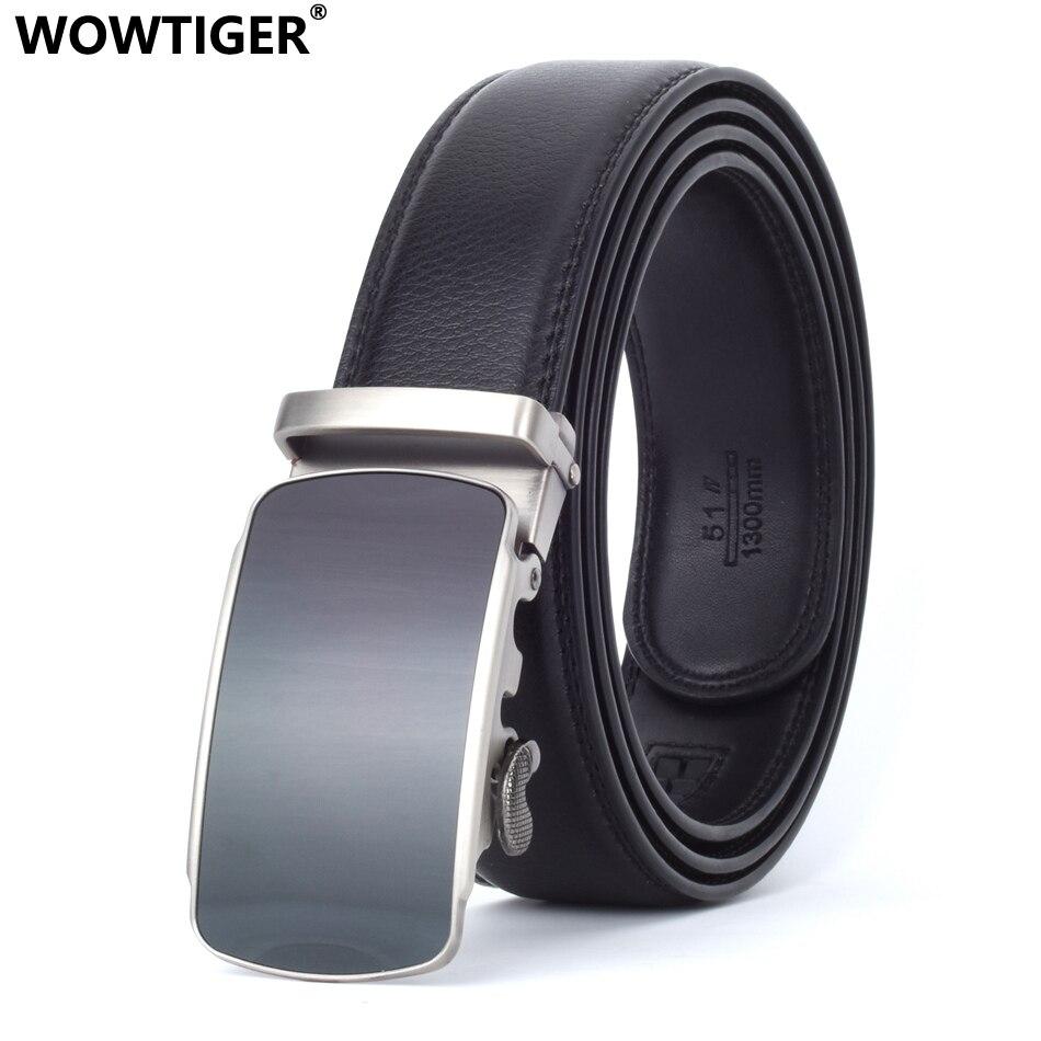 7bcd273477cc WOWTIGER En Cuir Hommes Mâle Véritable Taille Sangle De Luxe Automatique designer  Marque Ceinture ceinture homme