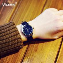 Vintage Classic Small Dial Thin Leather Strap Quartz Wristwatches Wrist Watch for Women Ladies Female Black Brown